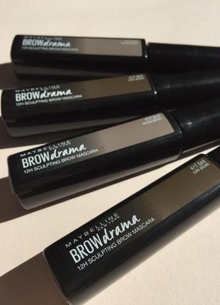 Тушь для бровей maybelline brow drama