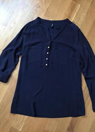 Синяя рубашка-блуза chicoree