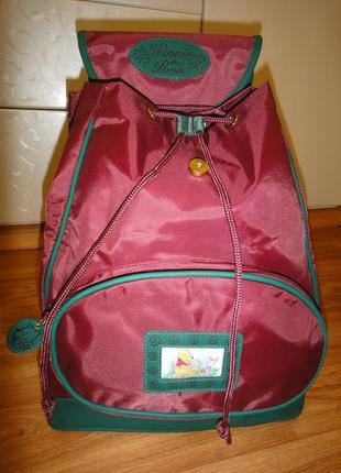 Новый, крутой детский рюкзак, сумка от disney, winnie the pooh от 7лет новый с биркой