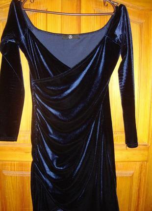 Бархатное платье р.xs-s