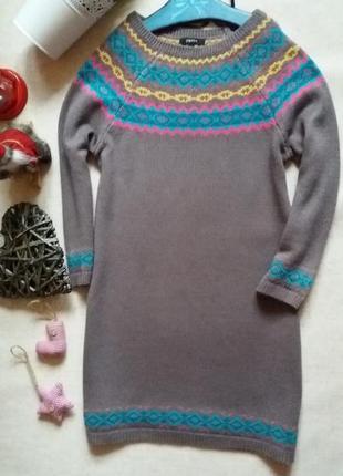 Оригинальный свитер удлиненный papaya