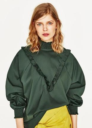 Стильная блузка zara,p.xs-m