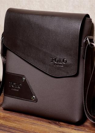 Качественная и стильная мужская сумка поло polo + визитница в подарок