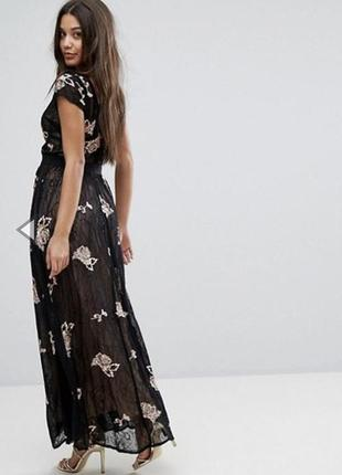 Платье кружево бисер пайетки missguided