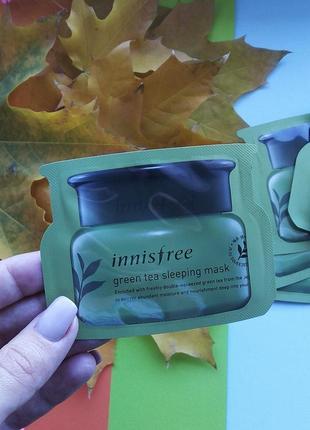 Ночная маска с зеленым чаем увлажняющая innisfree green tea sleeping pack 4 ml