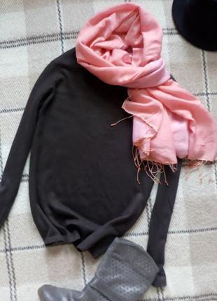 Роскошный кашемировый свитер цвета кофе шелк+кашемир