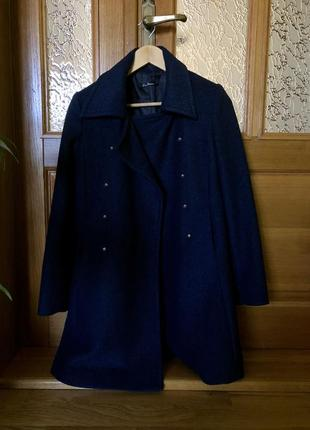 Синее пальто kira plastinina