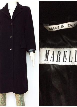 Marella italy max mara великолепное силуэтное чёрное итальянское пальто