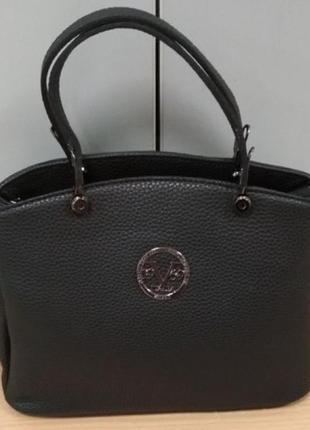 Cумка небольшая versace 1969, экокожа, черная