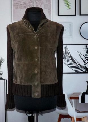 Куртка замшевая с вязаными рукавами whistler
