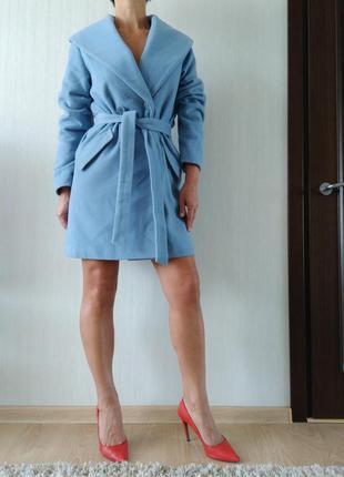 Шикарное, шерстяное , фирменное пальто oversize из каталога ashley brooke. р 36