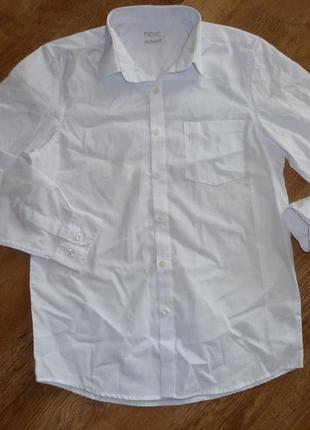 09/2017 next белая школьная рубашка некст на 12 лет , состояние новой,