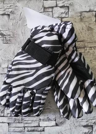 Подростковые перчатки с плащевки, лыжные.