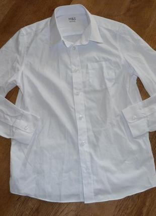 Marks&spencer белая школьная рубашка на 12-13 лет , состояние новой