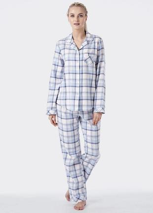 M lns 443 key фланелевая теплая пижама в клеточку
