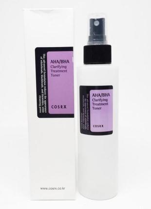 Тонер с кислотами для проблемной кожи aha/bha clarifying treatment toner, бренд cosrx