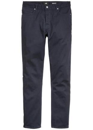 Темно-синие повседневные штаны брюки george