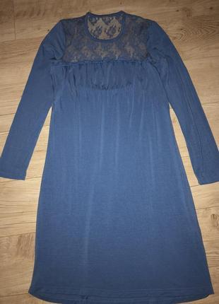Нежное домашнее платье/ночнушка/ гипюр/кружево от yamamay размер с-м