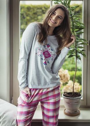 Lns 568 key женская пижама штаны и кофта домашняя одежда комплект