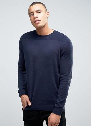 Актуальный мужской вязаный джемпер, пуловер хлопковый, свитер стильный