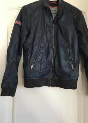 Брендовая  кожаная куртка отpepe jeans