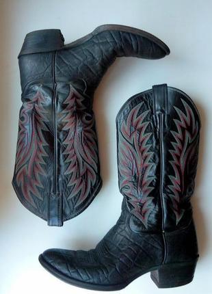 Кожаные ковбойские сапоги казаки justin