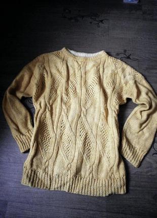 Яркий свитер джемпер ручной работы hand made
