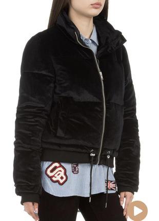 Стильная и тёплая бархатная куртка superdry