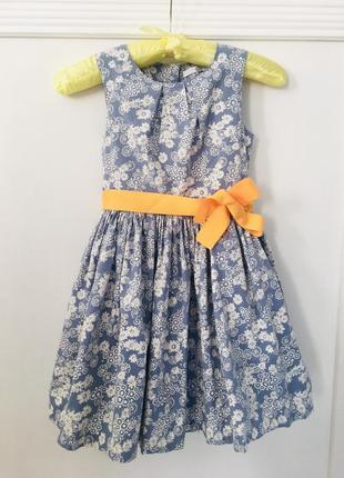 M&s хлопковое платье в цветочек1
