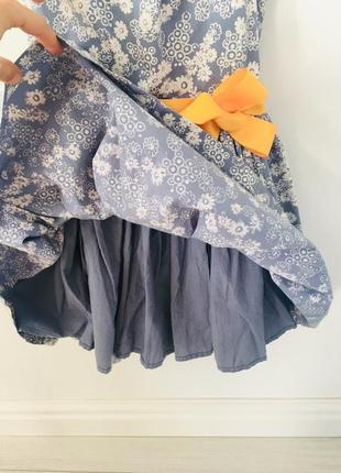 M&s хлопковое платье в цветочек4