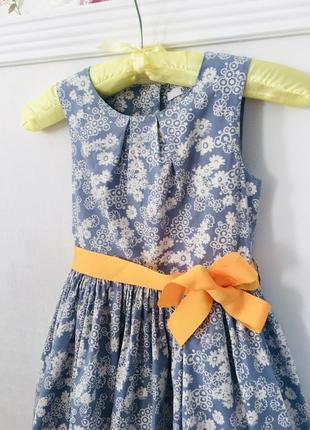 M&s хлопковое платье в цветочек5