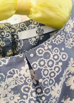 M&s хлопковое платье в цветочек3