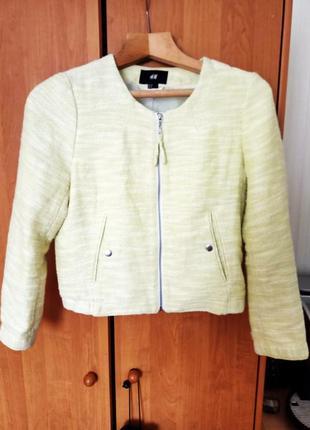 Бомбер куртка пиджак h&m