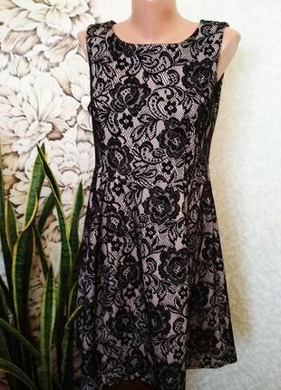 Нарядное платье с имитацией кружева. 1+1= 50% скидки на 3ю вещь.