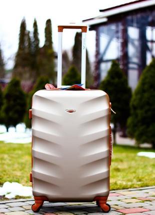 Качественный пластиковый чемодан, пластикова валіза, якість!