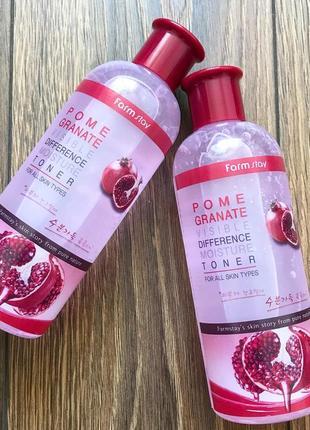 Увлажняющий тонер с гранатом farmstay visible difference pomegranate moisture toner, 350мл