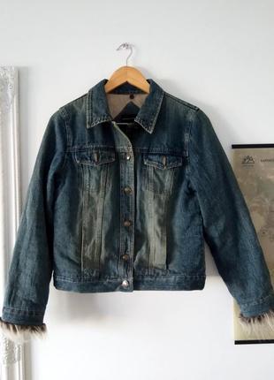 Джинсова куртка утепленная