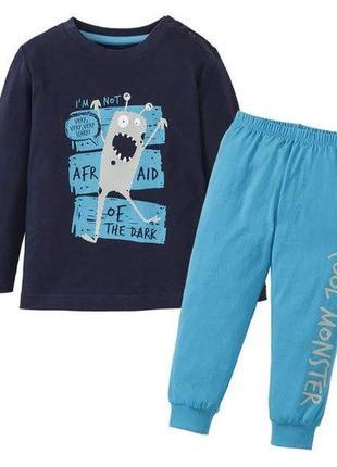 Светится хлопковая пижама с монстриками для мальчиков lupilu