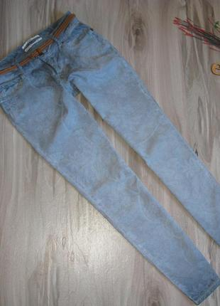 Оригинальные  брюки омбре , принт размер 29 ( eur 40)
