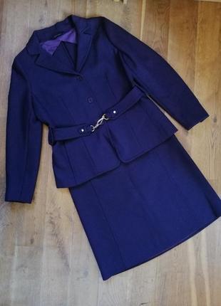 Max mara шерстяной костюм(пиджак, юбка)