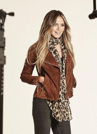 Куртка косуха 100 % натуральная кожа esmara (германия) от хайди клум р. 34 евро