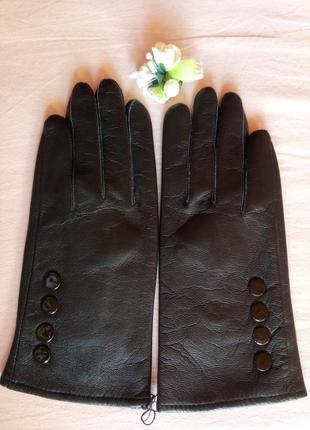 Новые женские перчатки из лайковой кожи хорошего качества