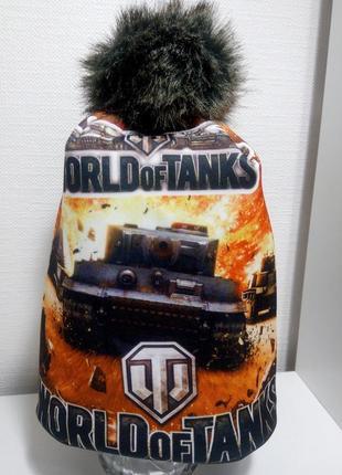 Шапка ворлд оф танкс теплая шапка на флисе для мальчика