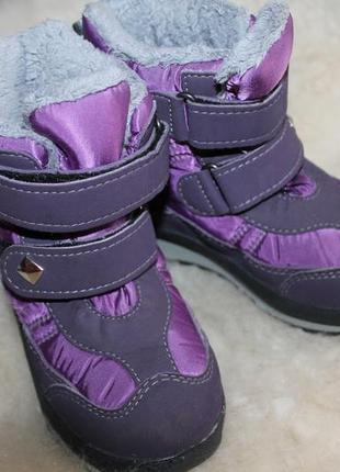 Antex теплые зимние сапожки, ботинки с мембраной, 23, 24 размер, 15 см стелька
