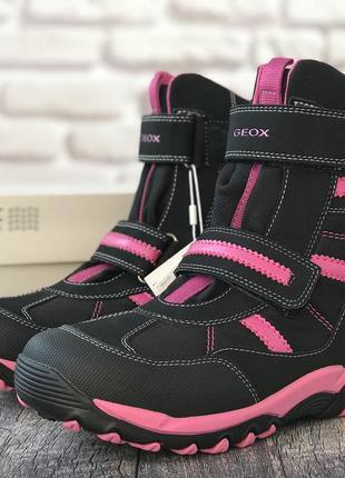 Зимние водонепроницаемые ботинки geox (италия)j alaska
