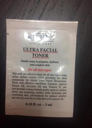 Kiehls увлажняющий тоник ultra facial toner