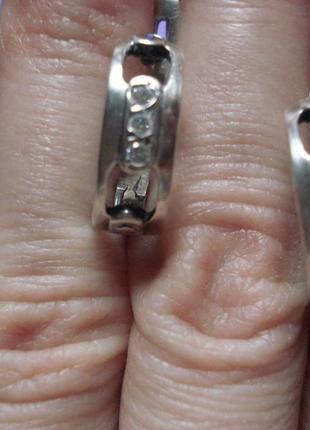 Красивые серебряные серьги, сережки серебро 925 проба.