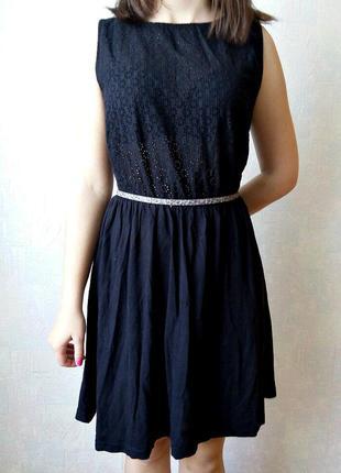 Черное платье atmosphere с поясом
