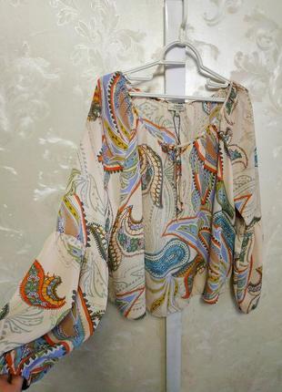 Блуза с завязками   papaya