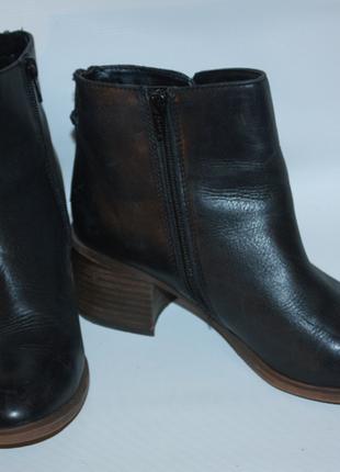 Ботинки ботильоны новые кожаные кожа черные tu к031